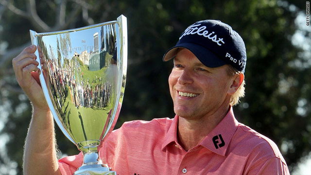 Stricker was getting his hands on his fourth trophy in the space of a year on the PGA Tour.