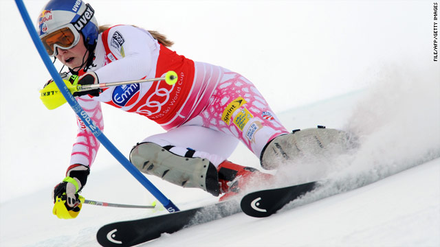 A shin injury is causing Lindsey Vonn ahead of the upcomiong Winter Olympics in Vancouver.