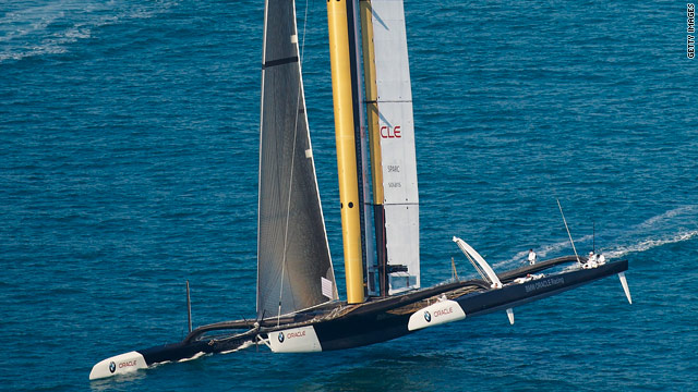 BMW Oracle proved far too strong for holders Alinghi in the opening race of the America's Cup.