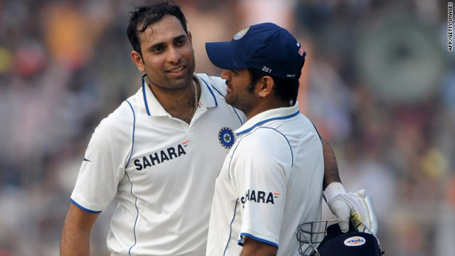 V.V.S. Laxman, left, and captain Mahendra Singh Dhoni continued India's dominance of the South African bowlers.