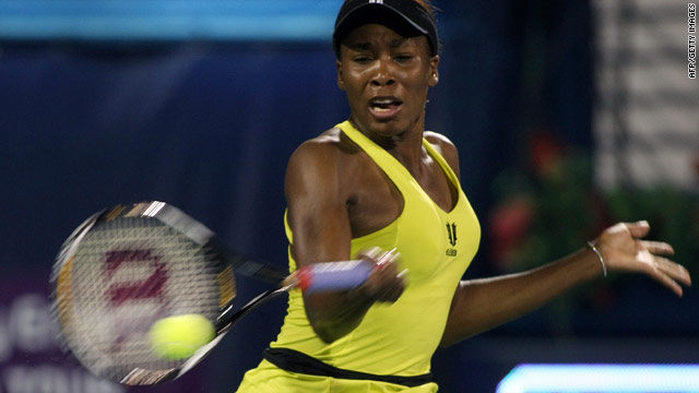 Venus Williams beat her younger sister Serena on the way to winning the title in Dubai last year.