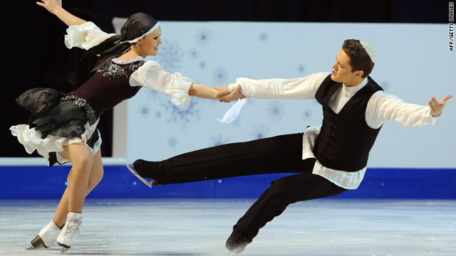 Israel's Alexandra Zaretsky and Roman Zaretsky perform at the 2010 European Figure Skating Championships.