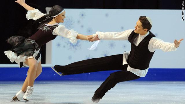 Israel's Alexandra Zaretsky and Roman Zaretsky perform at the 2010 European Figure Skating Championships.