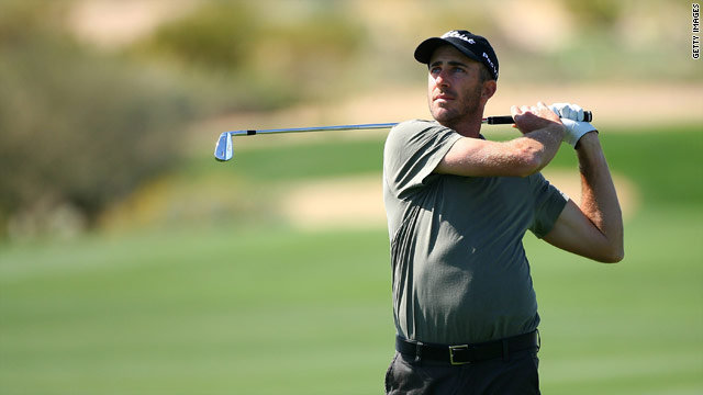 Defending champion Ogilvy battled bravely against Camilo Villegas but went down to a second round defeat.