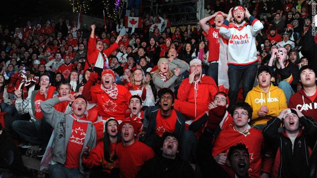 Canadian fans felt the highs and lows of hockey during Sunday's game against the United States.