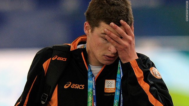 Sven Kramer also suffered Winter Olympic misery four years ago when he fell during a team pursuit event.