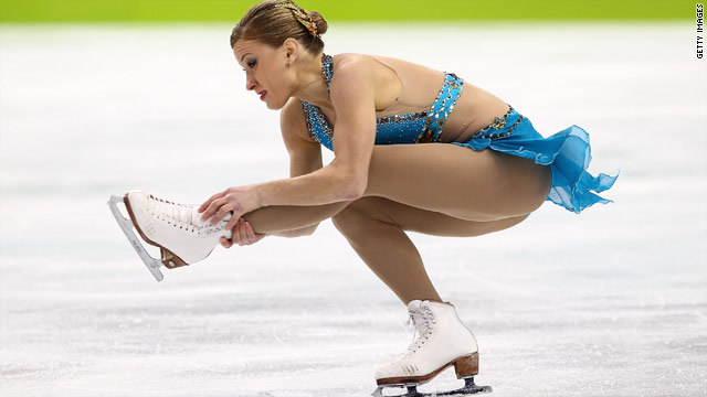 Joannie Rochette of Canada competes in women's figure skating competition on Thursday night. She won the bronze.