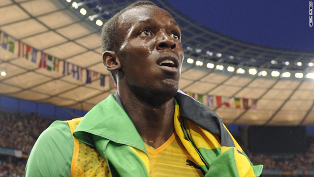 Usain Bolt is the first man in history to hold the men's world and Olympic 100 and 200m titles.