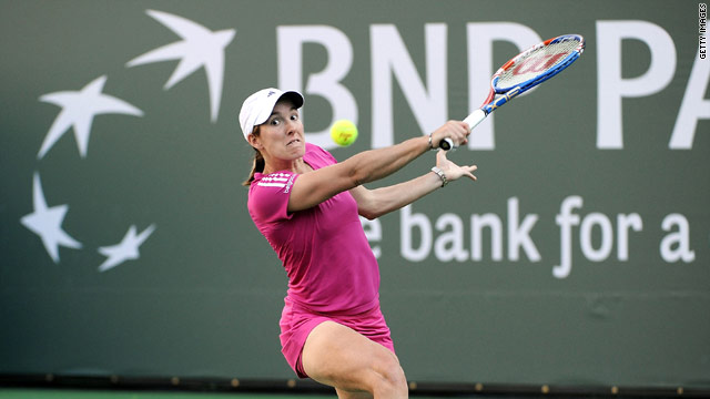Henin was kept under pressure by Dulko and slipped to a three-set defeat.