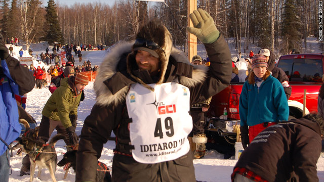 Musher Lance Mackey finished the 1,049-mile race in nearly nine days, the second-fastest finish in race history.
