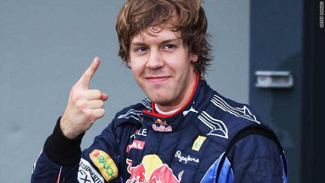 Red Bull's Sebastian Vettel celebrated the seventh pole position of his career at Albert Park in Melbourne.