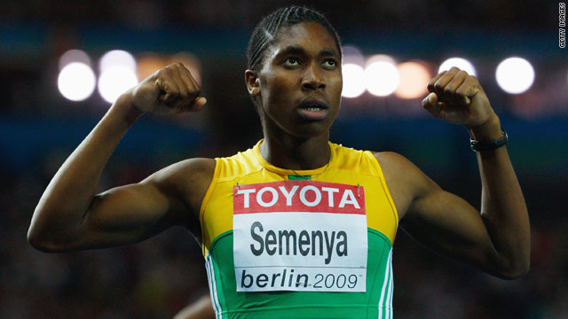 Semenya stormed to victory in the 800m World Championship final in a time of one minute, 55.45 seconds