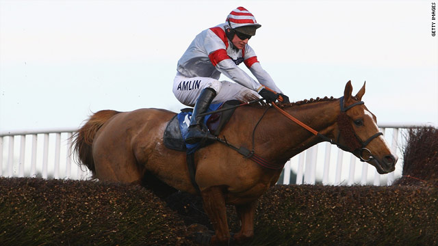 Jockey Tom O'Brien rides Dream Alliance to victory in December's Welsh National.