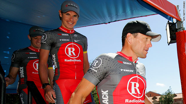 Lance Armstrong's Radio Shack team has been hit by its first doping scandal after Fuyu Li tested positive.
