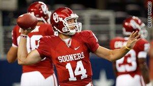 Oklahoma QB Sam Bradford is widely expected to be the No. 1 in the NFL Draft.