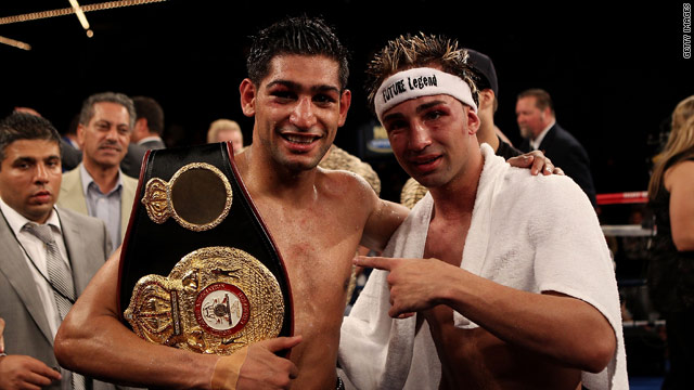 Despite bad blood beforehand, there was mutual respect after Amir Khan had beaten Paulie Malignaggi to defend his world title.