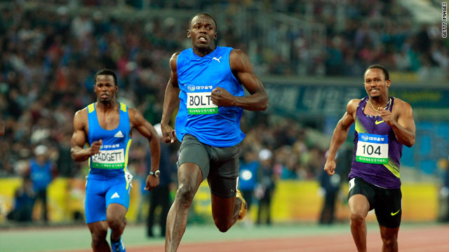 Usain Bolt shows his rivals a clean pair of heels to run the fastest 100m of the year in Korea on Wednesday.