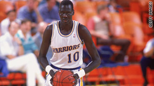 Manute Bol, a native of Sudan who was listed at 7 feet, 7 inches tall, played 12 years in the NBA.