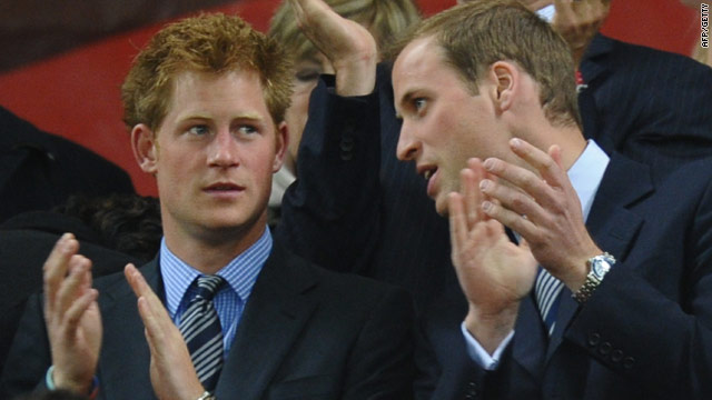 Prince Harry (left) and Prince William watched the goalless draw between England and Algeria in Cape Town, South Africa.