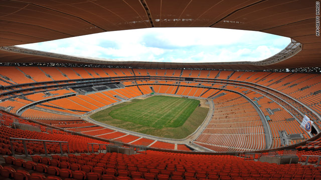 Johannesburg's Soccer City was rebuilt for the 2010 World Cup, the first to be held on the African continent.