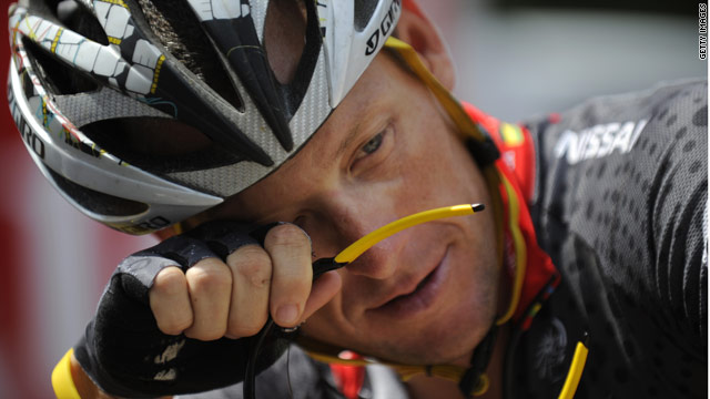 A weary Armstrong was left trailing by the other leading contenders on the eighth stage of the Tour de France.