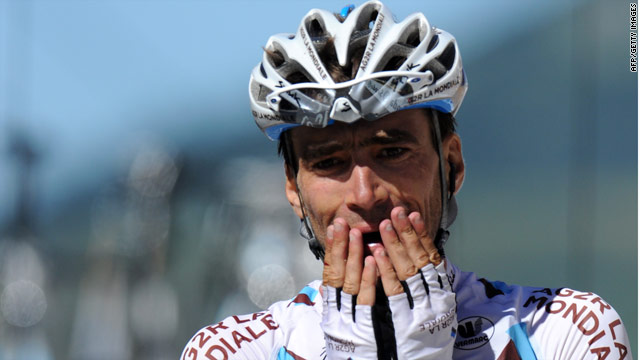An emotional Riblon wins the 14th stage after a brave breakaway ride in the Pyrenees.