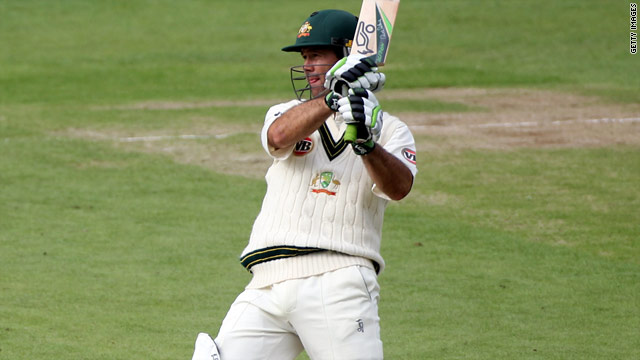 Ricky Ponting led Australia's fightback on the second day of the second Test against Pakistan.