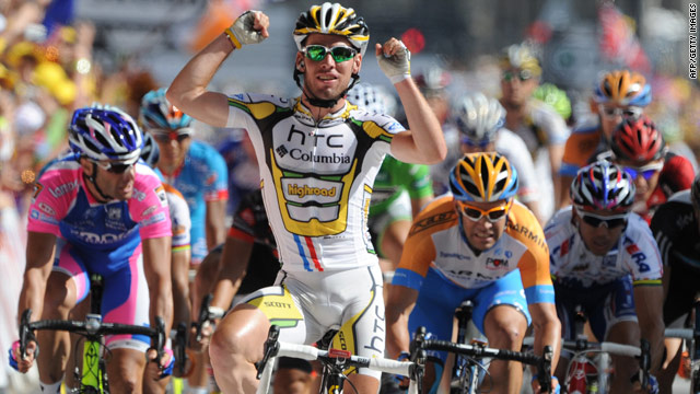 Mark Cavendish once again proved unstoppable as he powered to his fourth Tour de France stage victory.