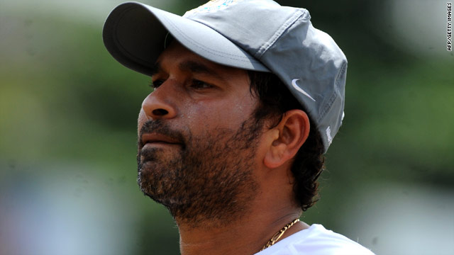 India's Sachin Tendulkar was already the leading scorer in Test and one-day international cricket.