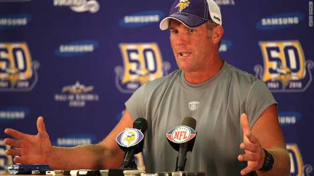 Brett Favre held a special press conference to confirm his plans to play on for another season.