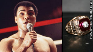 Muhammad Ali got his championship ring after the September 1978 decision against Leon Spinks that made him a three-time champ.