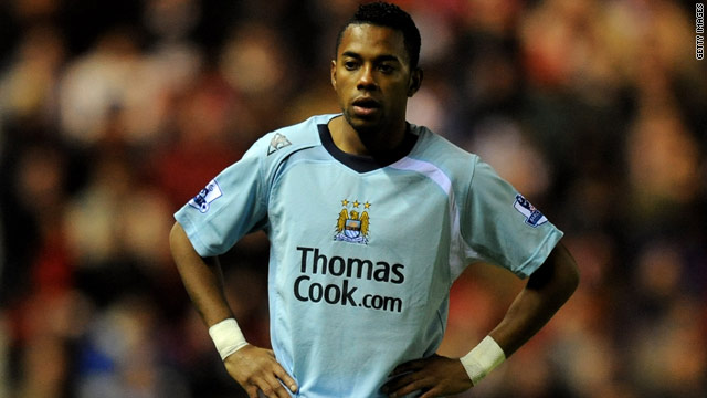 Robinho never settled in Manchester following his record English transfer from Real Madrid two years ago.