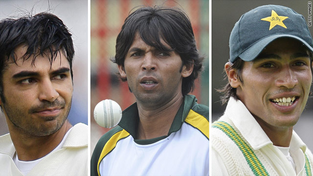 Salman Butt, left, Mohammad Asif, center, and Mohammad Amir are at the center of betting allegations.