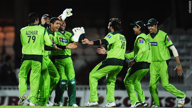 Pakistan cricketers celebrate their win over England. Allegations emerged Saturday  into a betting scandal surrounding the match.