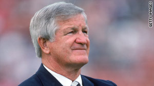 Quarterback George Blanda occasionally doubled as a placekicker.