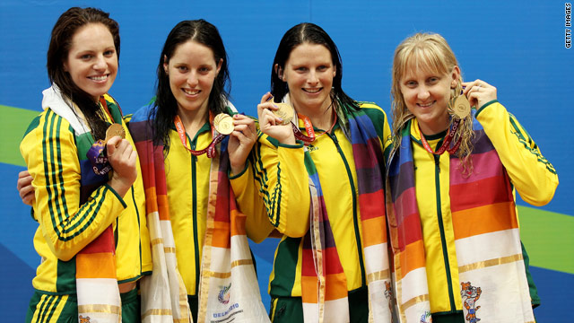 Emily Seebohm, Alicia Coutts,  Leisel Jones and Jessicah Schipper have claimed a host of golds at the Games.