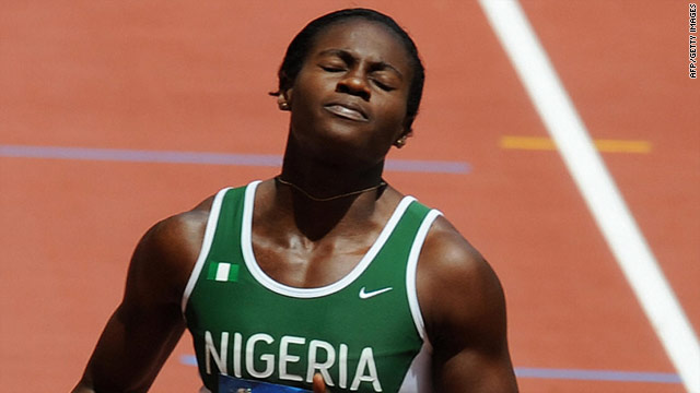 Nigerian 100m champion Oludamola Osayomi tested positive for a banned stimulant, Commonwealth Games organizers said on Monday.