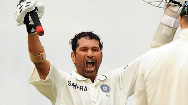 Sachin Tendulkar cannot hide his delight as India beat Australia to secure a 2-0 series victory.