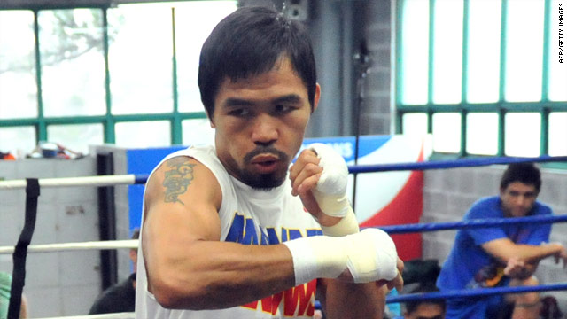Manny Pacquaio is training in the U.S. ahead of his fight against Antonio Margarito on 13 November.