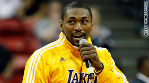 Ron Artest says the proceeds will be used to fund mental health services for youths who can't afford counseling.