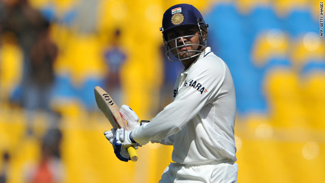 Virender Sehwag hit 24 fours in a superb knock of 173 as India too control of the opening Test against New Zealand.