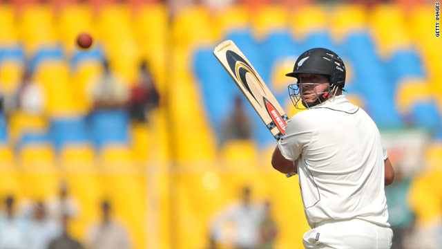 Jesser Ryder scored his third Test century against India as New Zealand fought back on the third day of the first Test.