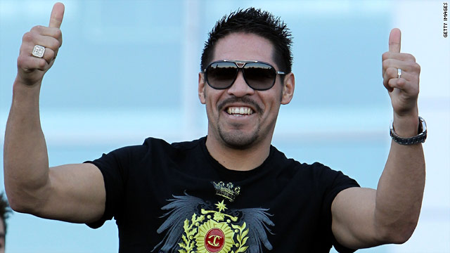 Antonio Margarito pictured in March before the weigh-in for Manny Pacquiao's last fight against Joshua Clottey.