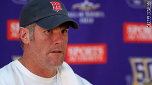 NFL player Brett Favre is accused of sending explicit pictures to a woman in 2008.