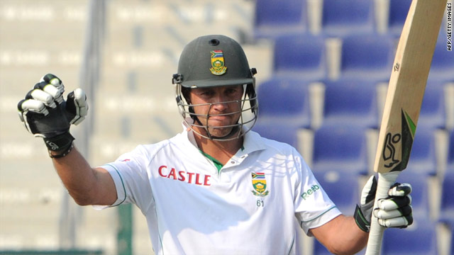 AB de Villiers celebrates reaching 250 during his record-breaking knock against Pakistan in Abu Dhabi.