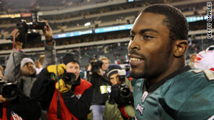 Michael Vick was suspended in 2007. He is now the starting quarterback for the Philadelphia Eagles.