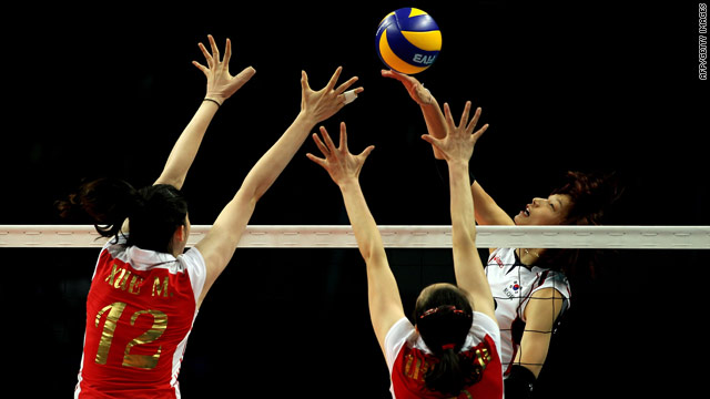 China's women won the final gold medal up for grabs at the 2010 Asian Games, beating South Korea 3-2 in the volleyball final.