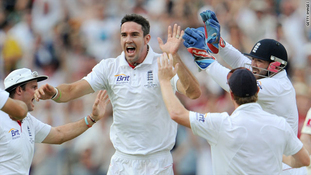 Kevin Pietersen's dismissal of Michael Clarke on Monday was the England player's fifth wicket in 68 Test matches.