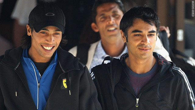 Pakistani cricketers Mohammad Aamer (left), Salman Butt (right) and Mohammad Asif are at the center of a corruption scandal.