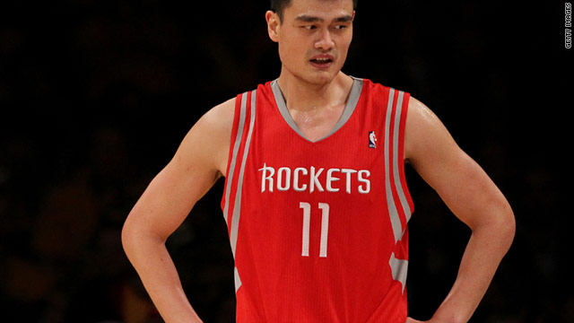 China and Houston Rockets star Yao Ming has sustained an ankle injury which could cut short his NBA season.